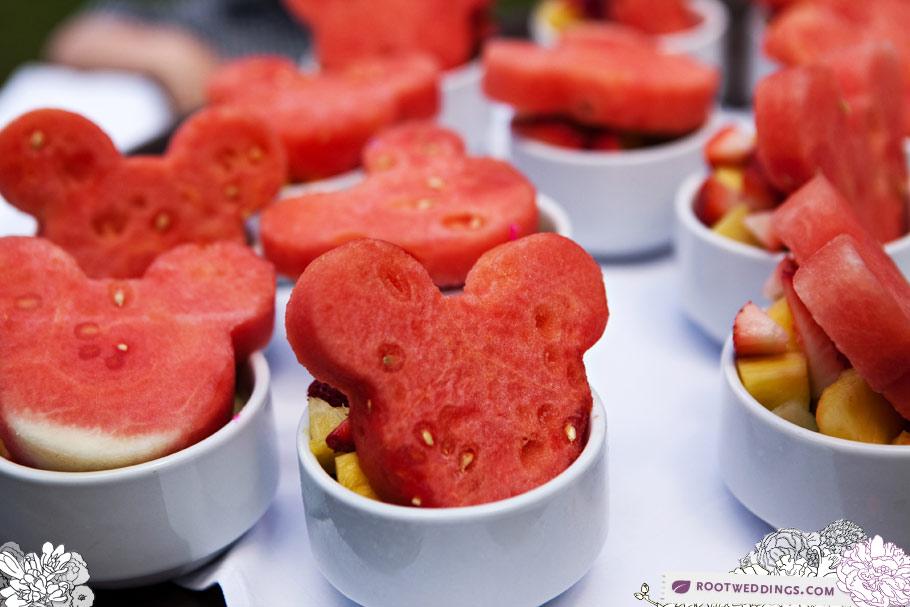 Disney Wedding Food