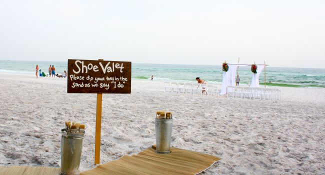 Toes in the Sand!  Stop 7 in our Unique Wedding Venue Series