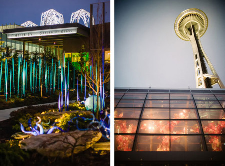 Chihuly Gardens for a Real Wedding - Diane and Rick