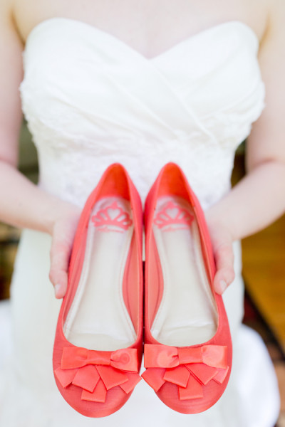 Coral shoes for your wedding