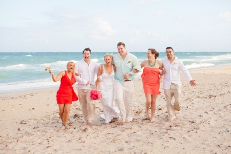 Pink Orange Coral Wedding Colors