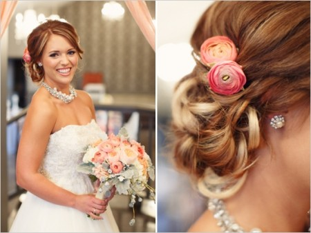 coral wedding colors for your hair