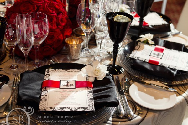 black and red table setting - Marrying Later in Life