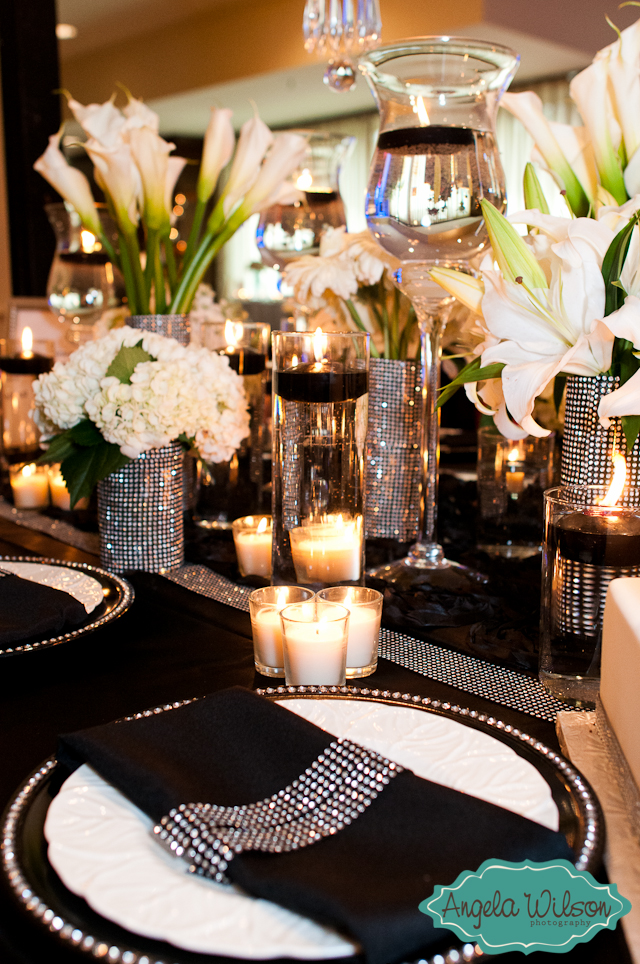 black and white table setting - Marrying Later in Life
