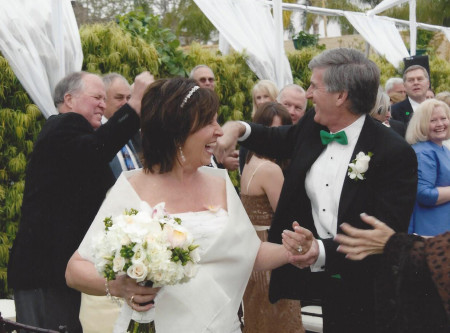 just married - real wedding story of Diane and Fred