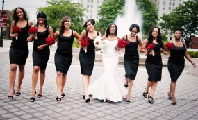 black dresses for bridesmaids