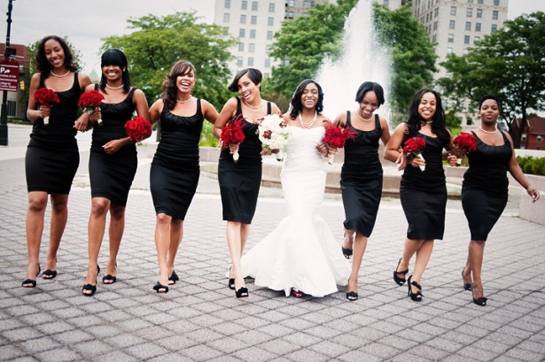 Wedding Colors - Black and Red ... Peach ... Yellow .. Pink ...