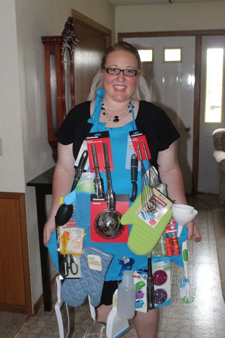 kitchen apron game at a shower