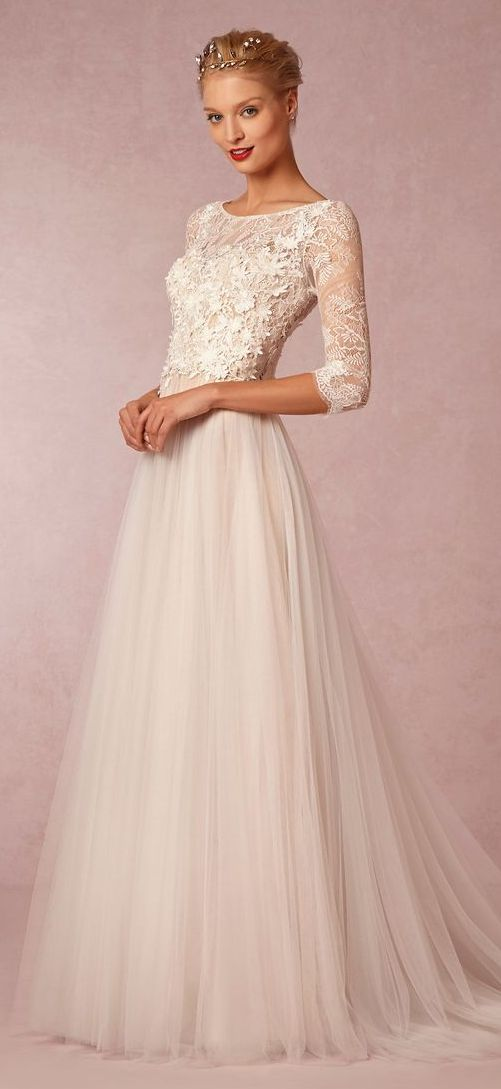Wedding dresses for older brides marrying later in life for Second wedding dresses not white