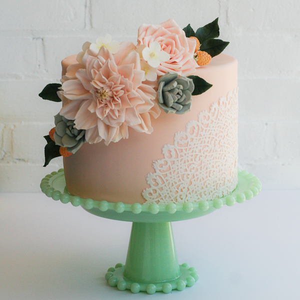 Wedding Cake Peachy Colors Marrying Later In Life