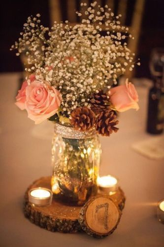 rustic wood table marker