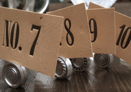table numbers for a wedding reception