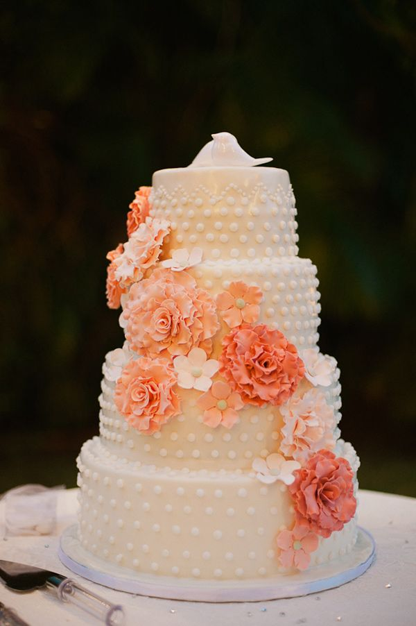 white peach and gold wedding cake wedding cake peachy colors marrying later in 27306