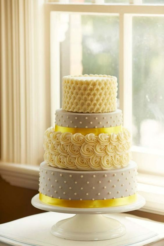 Wedding Cake Colors - Mellow Yellow - Marrying Later in Life