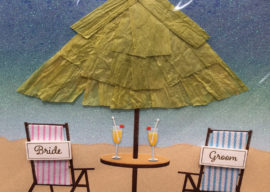 Beach Themed Wedding Cards