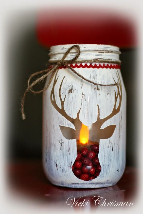 Christmas Table Ideas with Mason Jars