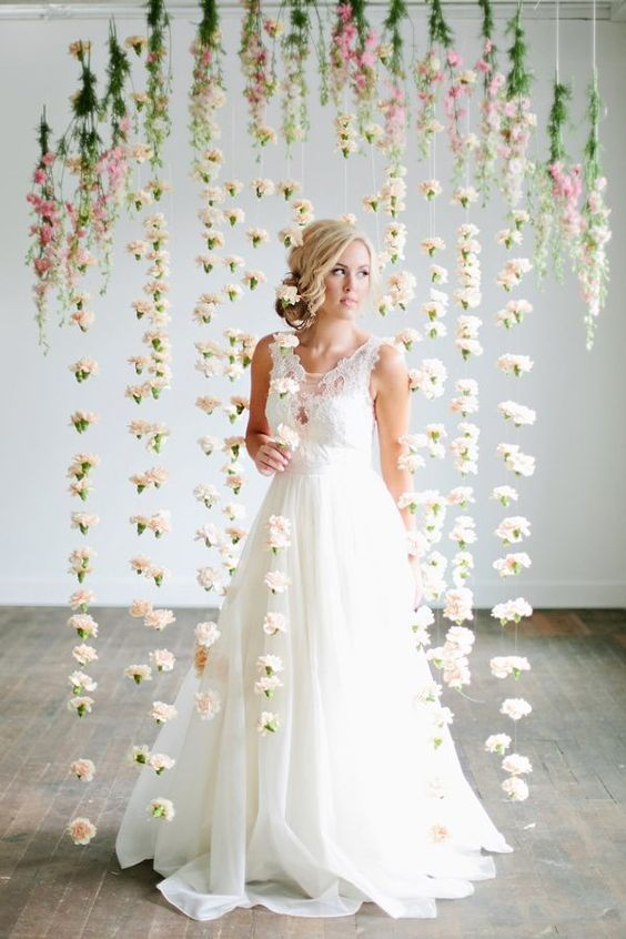 Hanging Floral Arrangements For Your Wedding The Trend Continues