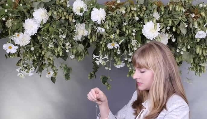 hanging floral arrangements