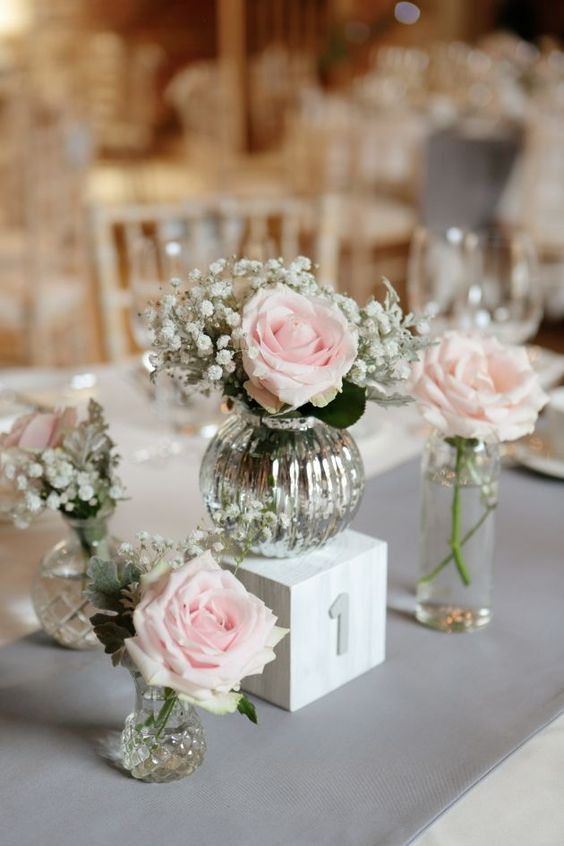 Simple Wedding Flowers On The Table