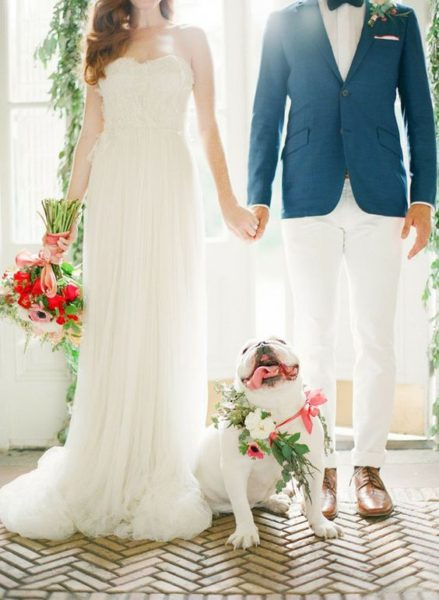 having your dog in the wedding